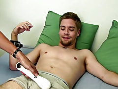 He begins to stroke his cock as he plays with his ballsack making Sean rock hard, but you can see he is waiting for Mr. Hand to smack him or do someth