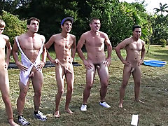 after the pledges had to line up and do the wiggle, so the 10-Pounder straps came off and they had to wiggle their peckers in front of their brothers