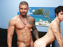 Gay double anal porn galleries and huge black gay anal at Bang Me Sugar Daddy