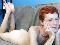 Cute Redhead Alan Parish lays back for a hot interview with the director and a sexy jackoff sesh gay twink first time at Boy Crush!