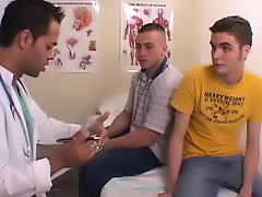 We met Dr. Rimmerman at the clinic and he gave us a sample and he made us flu in the room naked young school boys