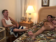 Huge gay group sex and...