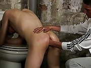 Hairy men masturbating in...