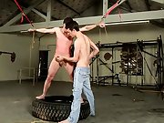 Gay bondage sex and male...