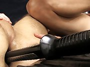 Bondage made to eat big cum pic and super hot uncut...