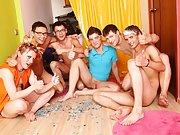 Gay male group sex origies...
