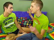Hot gay kiss twink jock and twink uncut gay men solo...