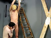 Young boy milking prostate...